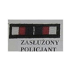 Baretka - BRĄZOWA ODZNAKA ZASŁUŻONY POLICJANT