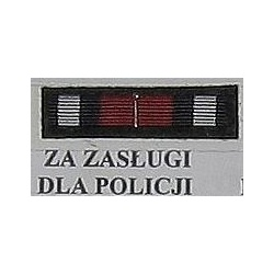 Baretka - BRĄZOWA ODZNAKA ZA ZASŁUGI dla POLICJI